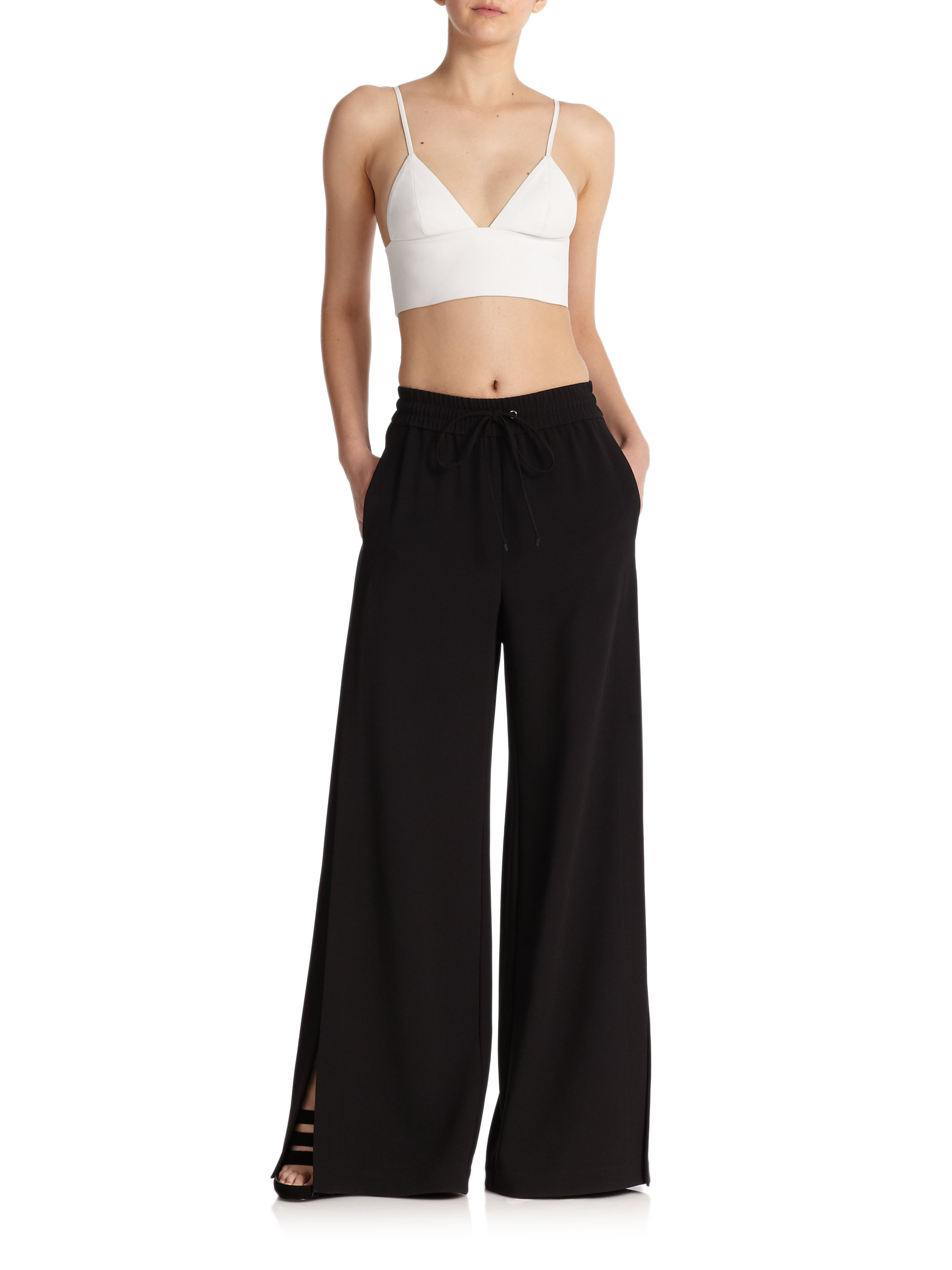 wide leg jeans - Black Alexander Wang High Quality Free Shipping Purchase Outlet Best ULXult8