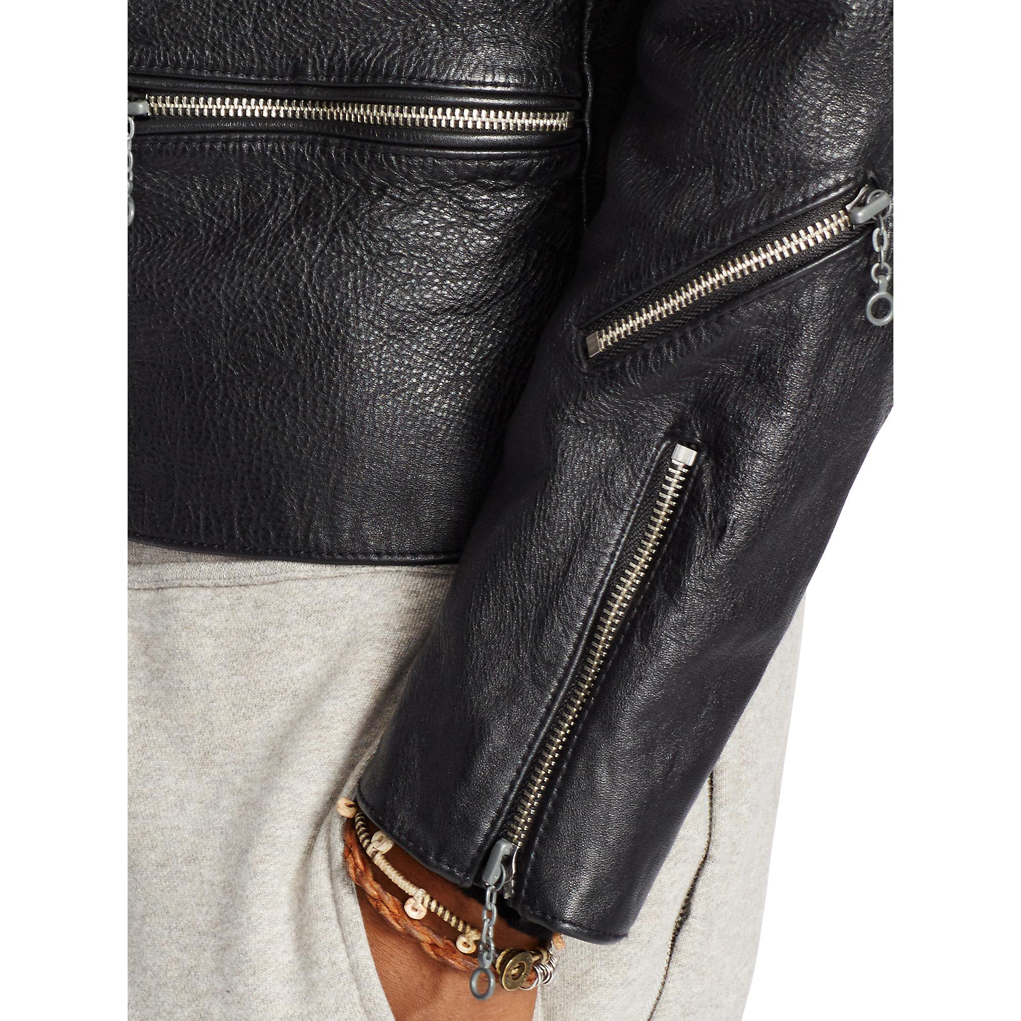 Denim & Supply Ralph Lauren Leather Motorcycle