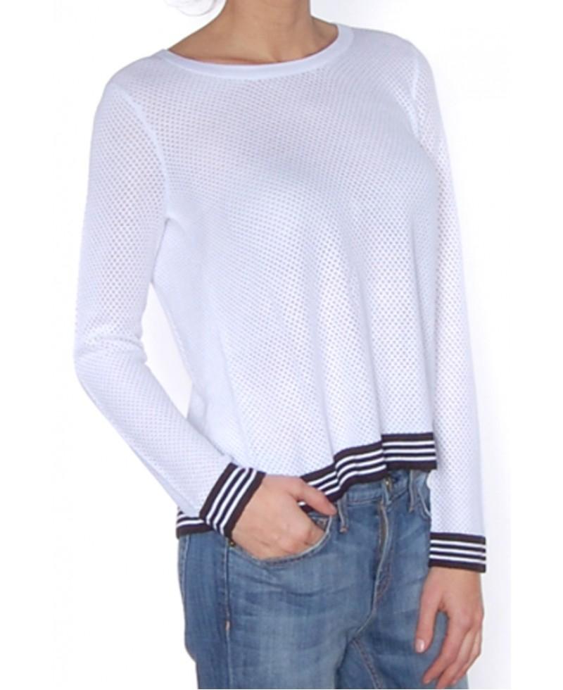 0f2588428c3 Lyst - Rag   Bone Nikki Split-Back Pullover in White