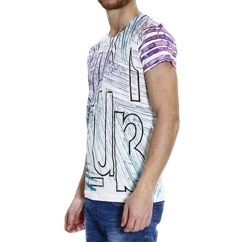 Lyst roberto cavalli miami club printed half sleeve crew for Miami t shirt printing