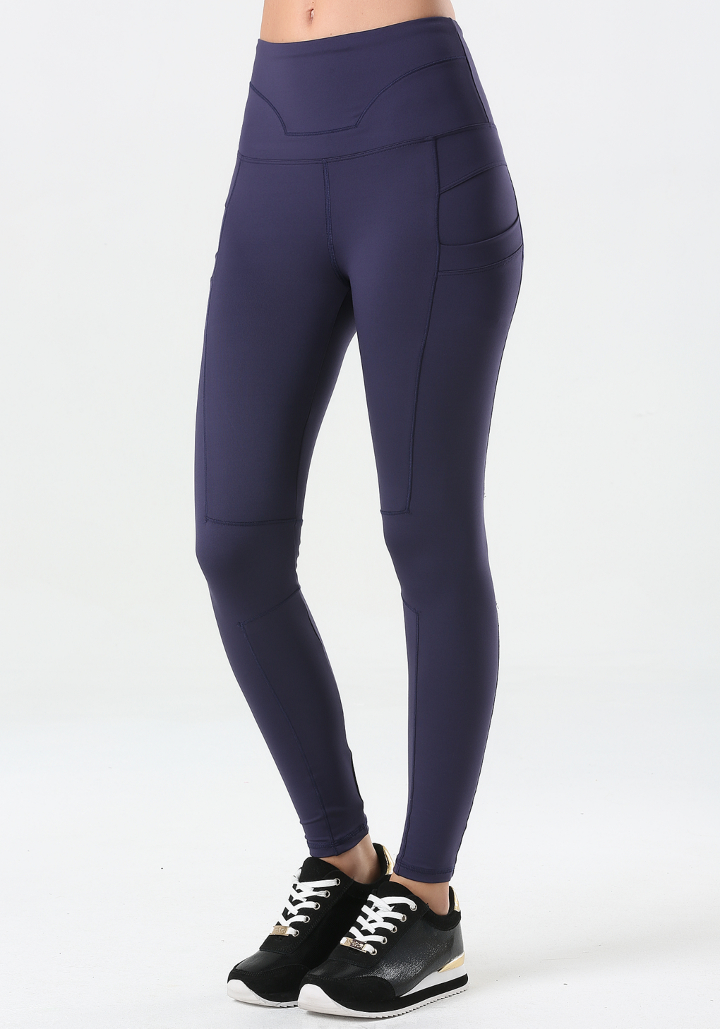 Bebe High-waist Workout Leggings in Blue | Lyst