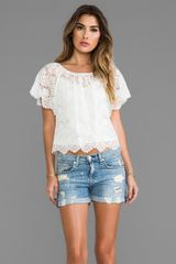 Beyond Vintage Lace Blouse in Ivory - Lyst