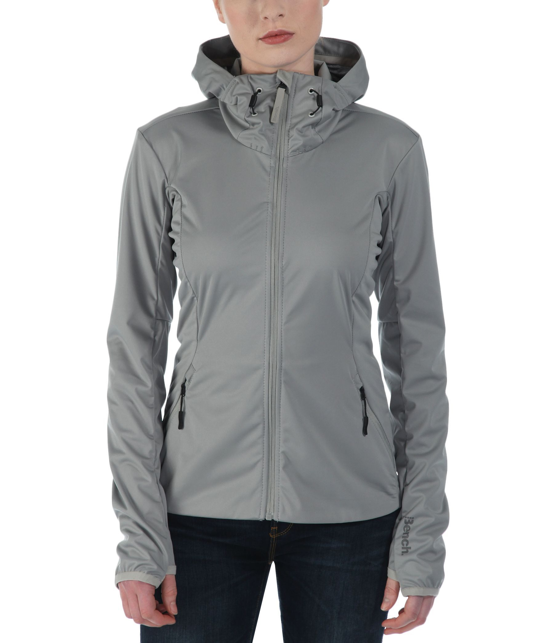 Bench enduring hooded softshell jacket in gray lyst Bench jacket