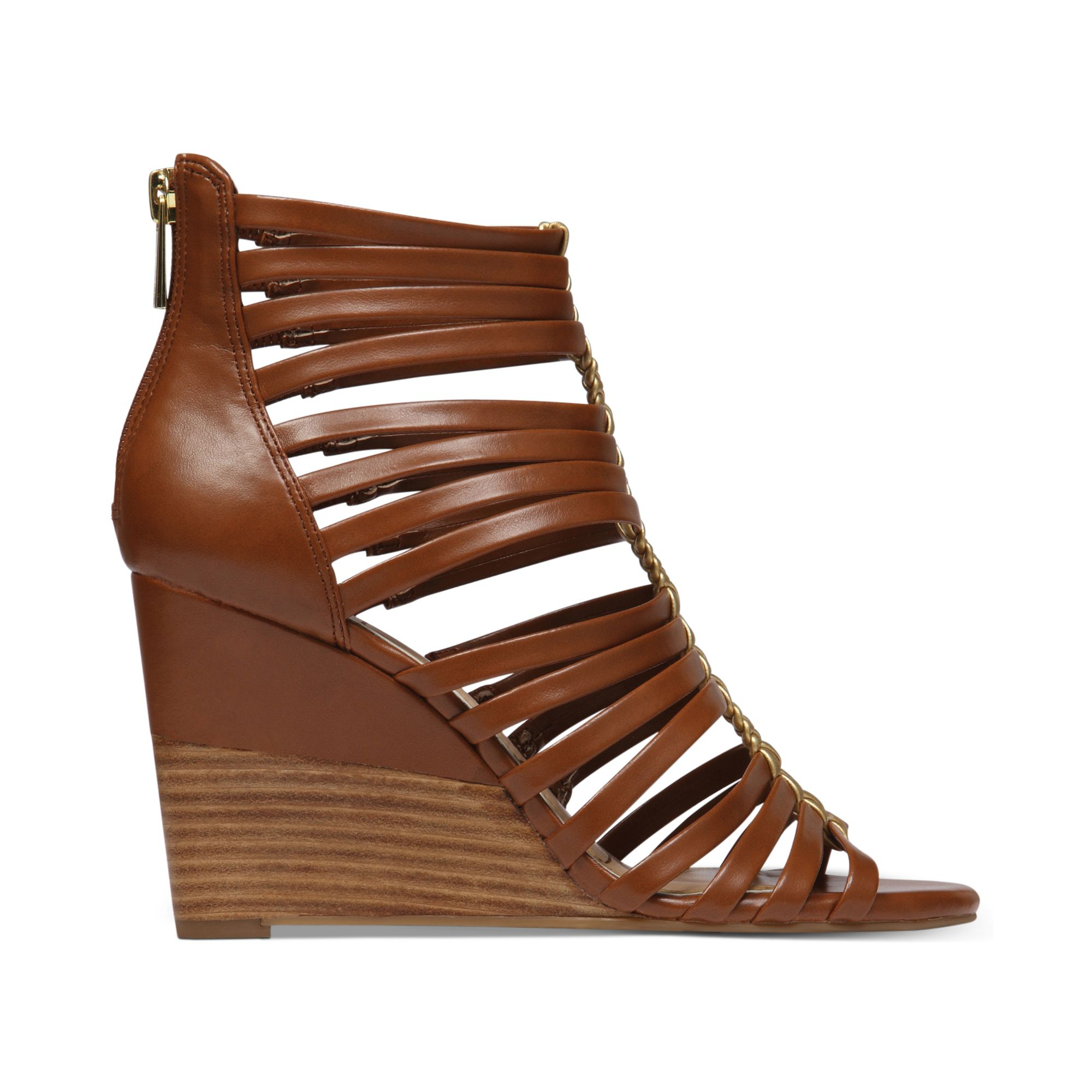 de4b75d4702 Lyst - Jessica Simpson Miccy Wedge Gladiator Sandals in Brown