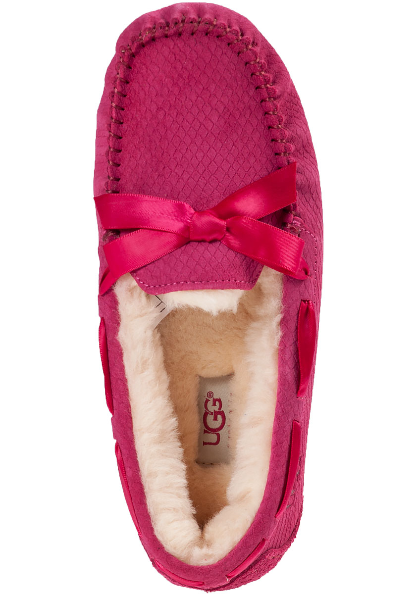 Lyst - Ugg Dakota Embossed Suede Slippers in Pink