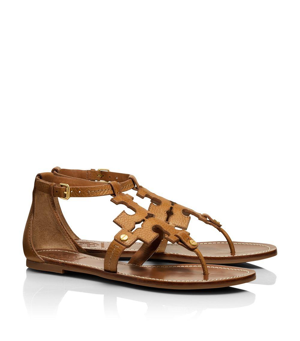 4b7d231c9 Tory Burch Phoebe Flat Thong Sandal in Brown - Lyst