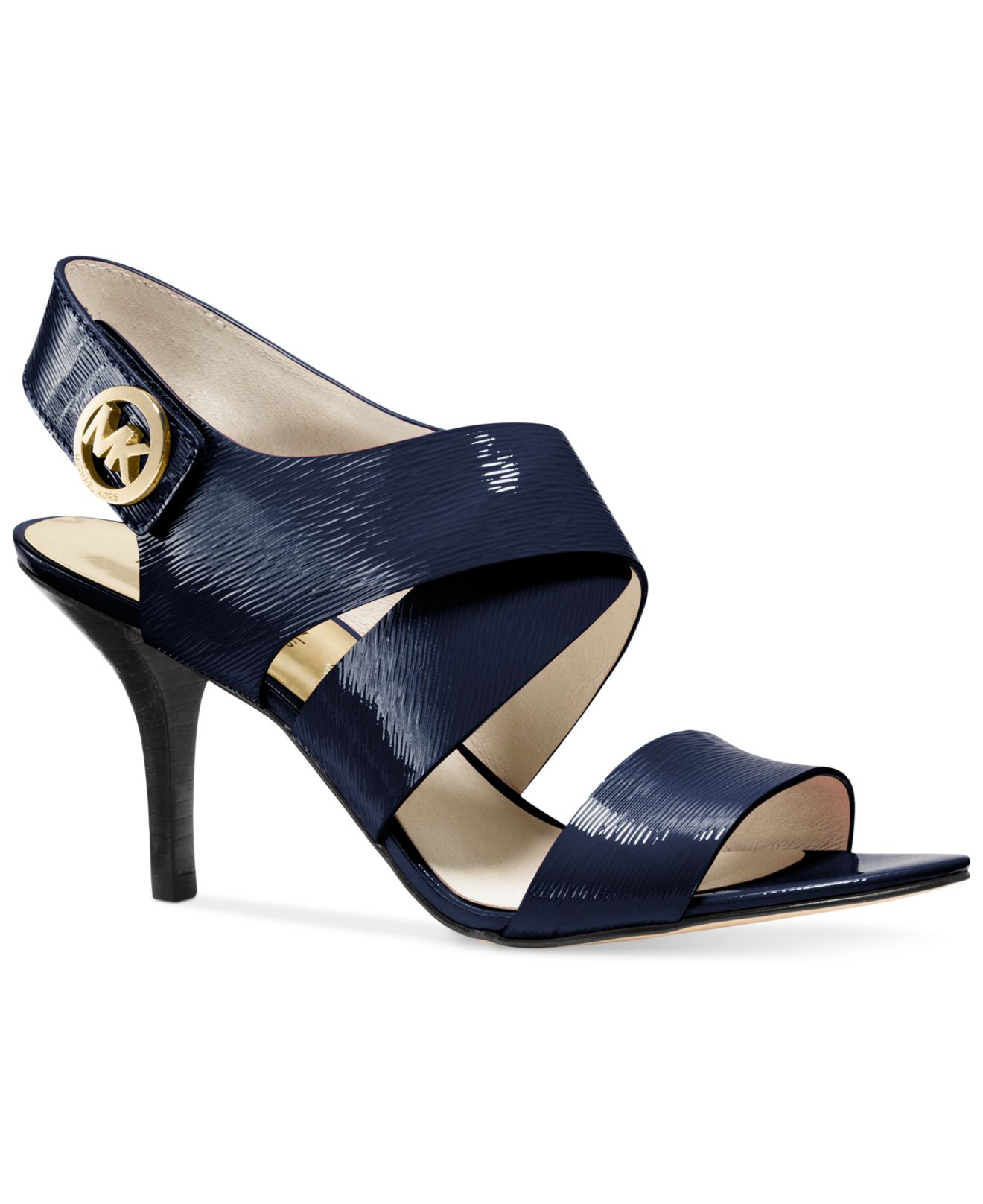 Lyst - Michael Kors Michael Joselle Sandals in Blue