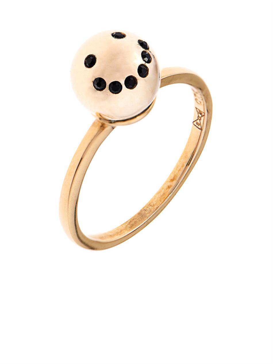 Gold XO ring - Metallic Nektar De Stagni NKZiEQe9Hb