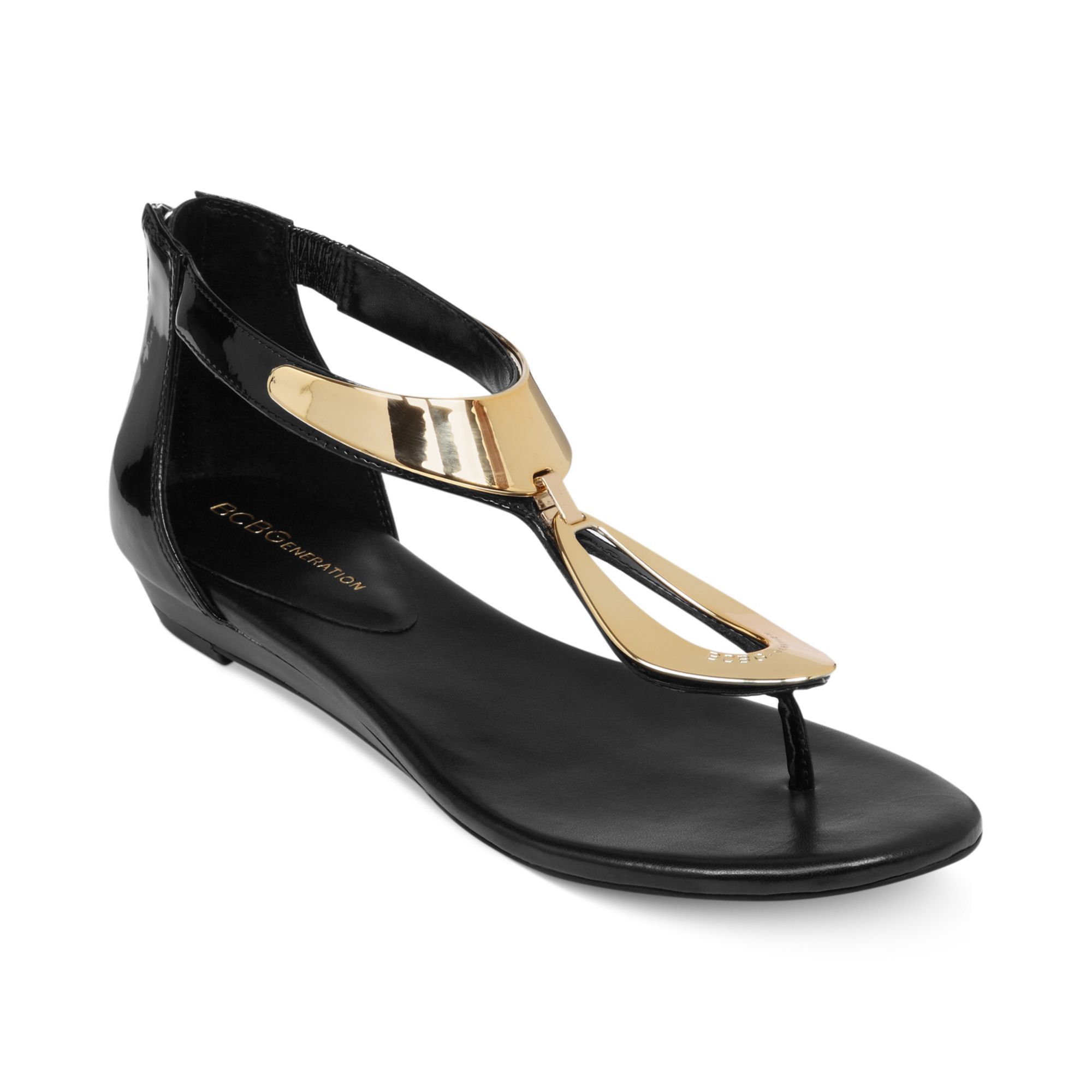 Bcbgeneration Anais Flat Thong Sandals In Black Lyst