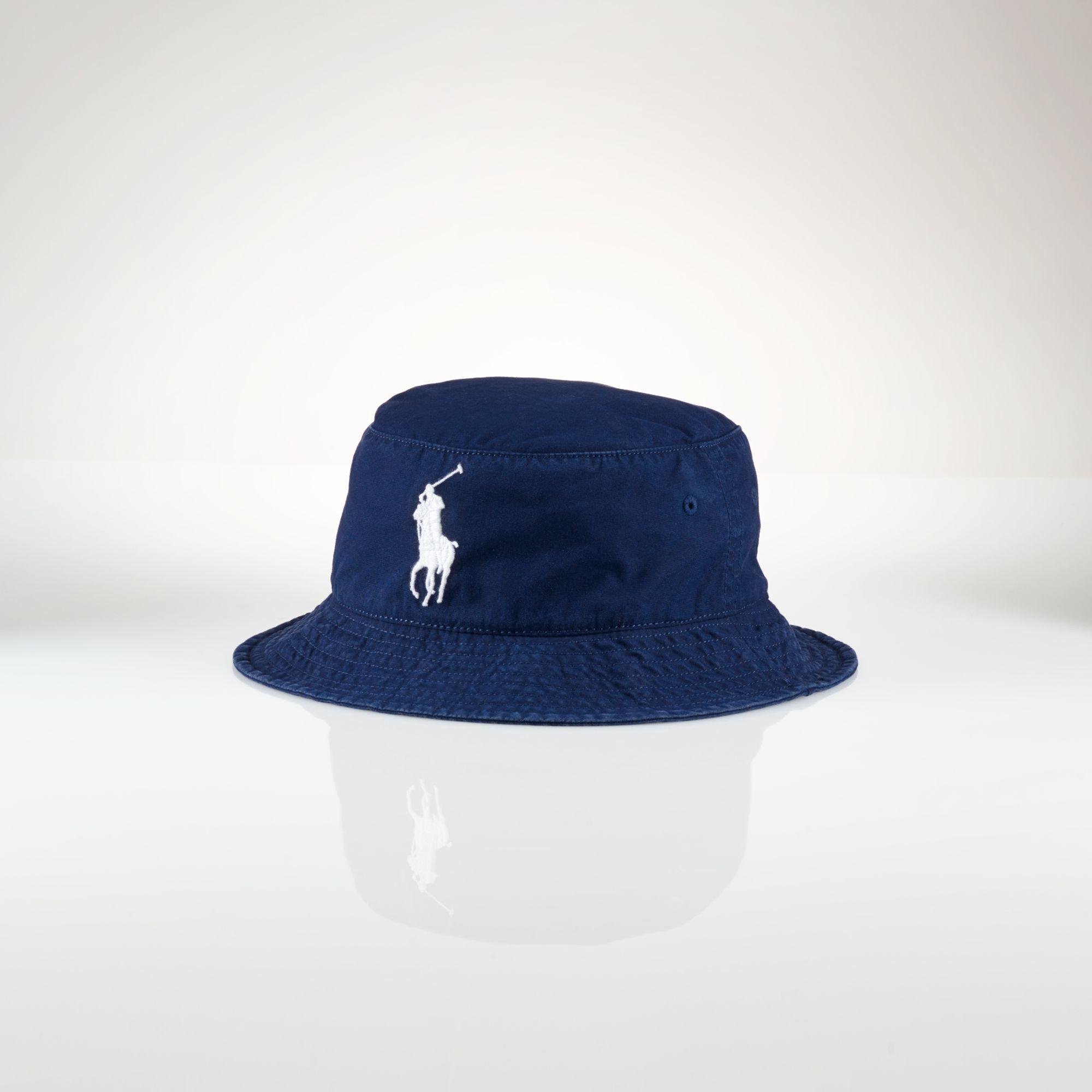 polo ralph lauren beachside bucket hat in blue for men lyst