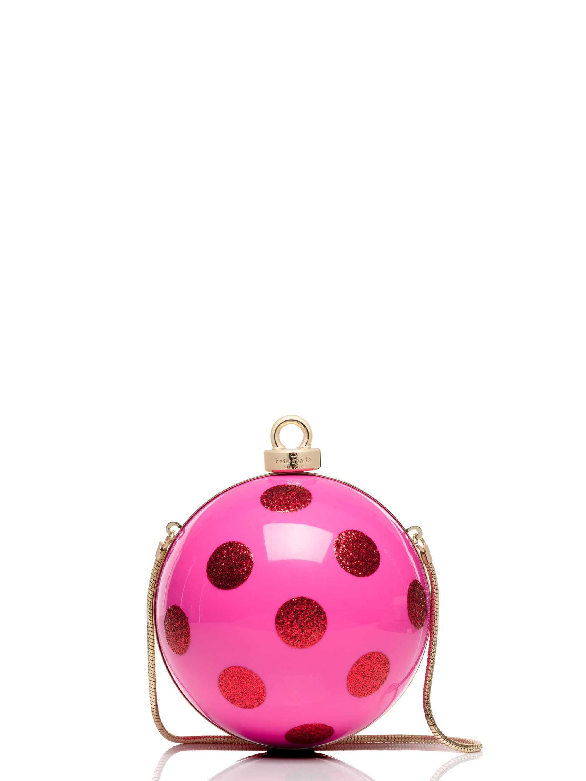 Lyst - Kate Spade New York Dot Ornament Clutch in Pink