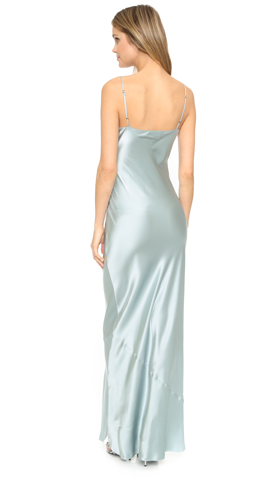 Silk cami maxi dress