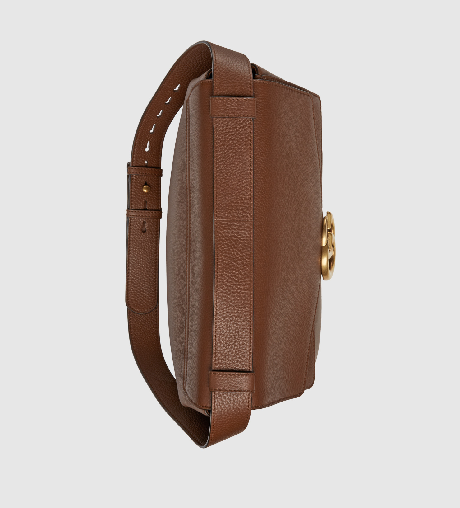Lyst Gucci Gg Marmont Leather Shoulder Bag In Brown