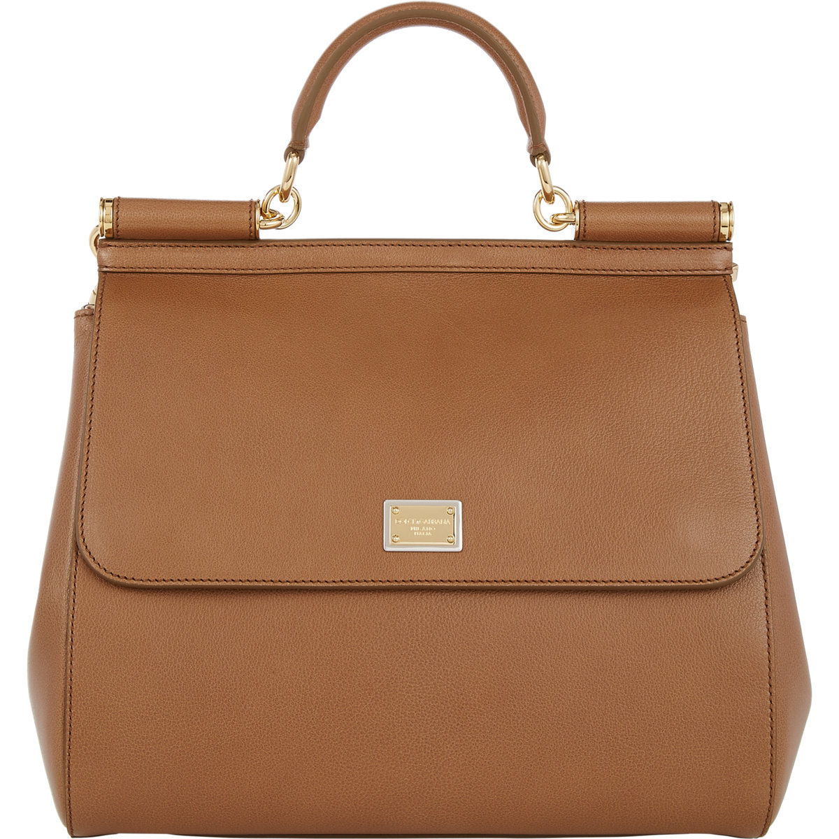 Lyst Dolce Amp Gabbana Miss Sicily Bag In Brown