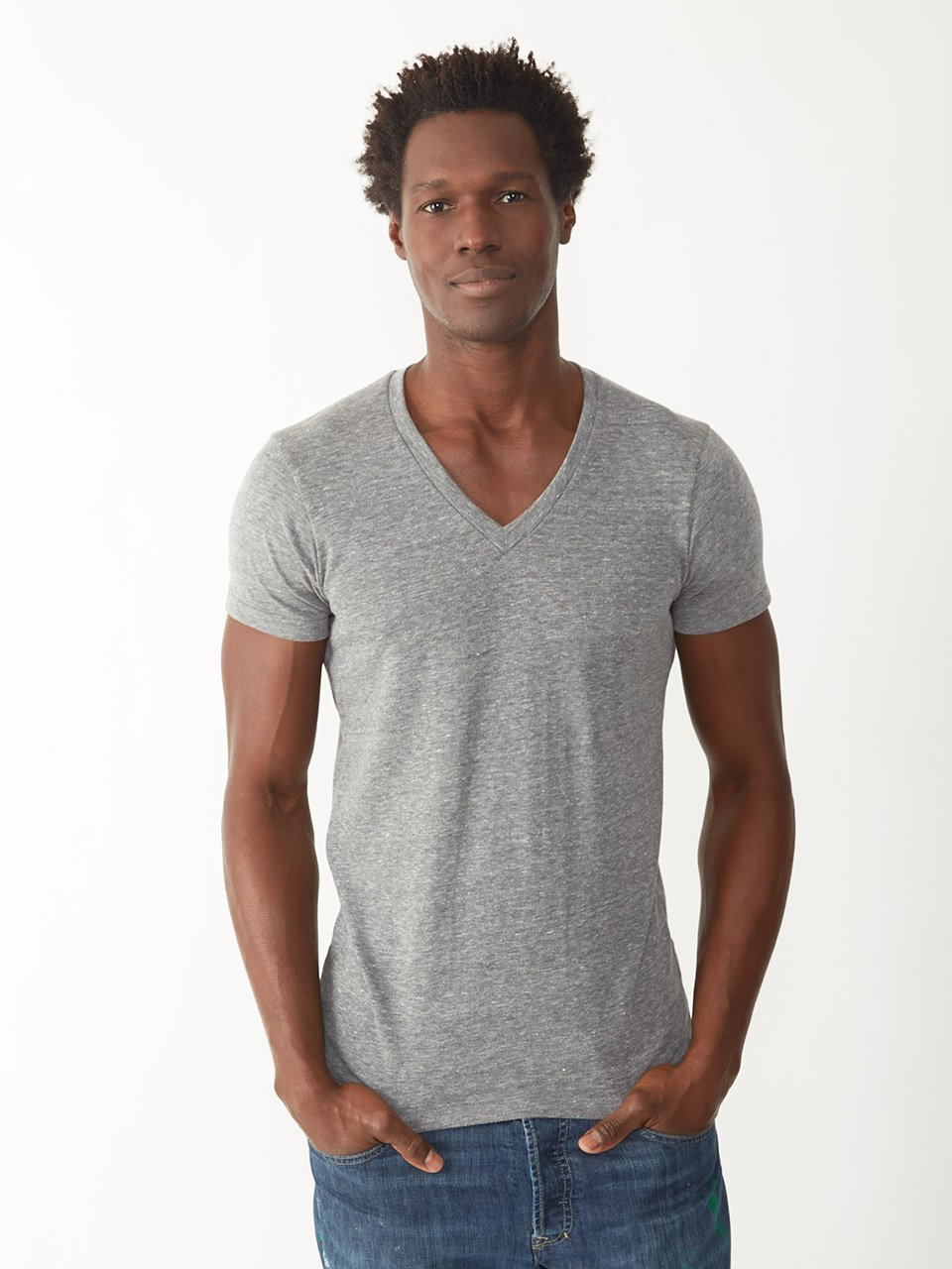 alternative apparel knit baseball tee in gray for men lyst