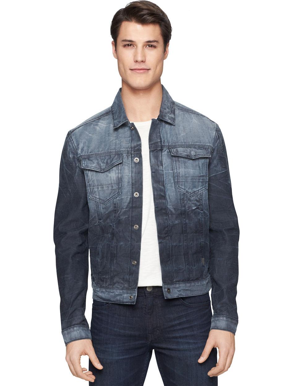 Calvin klein jeans Reverse Vapor Denim Trucker Jacket in Blue for Men | Lyst