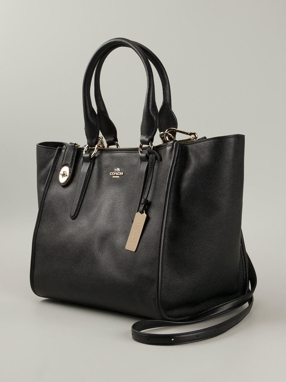 Coach Crosby Leather Shoulder Bag in Black | Lyst