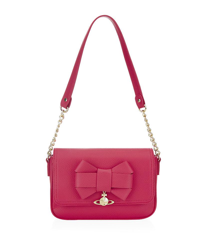 92211cdc8748 Vivienne Westwood Bow Shoulder Bag in Pink - Lyst