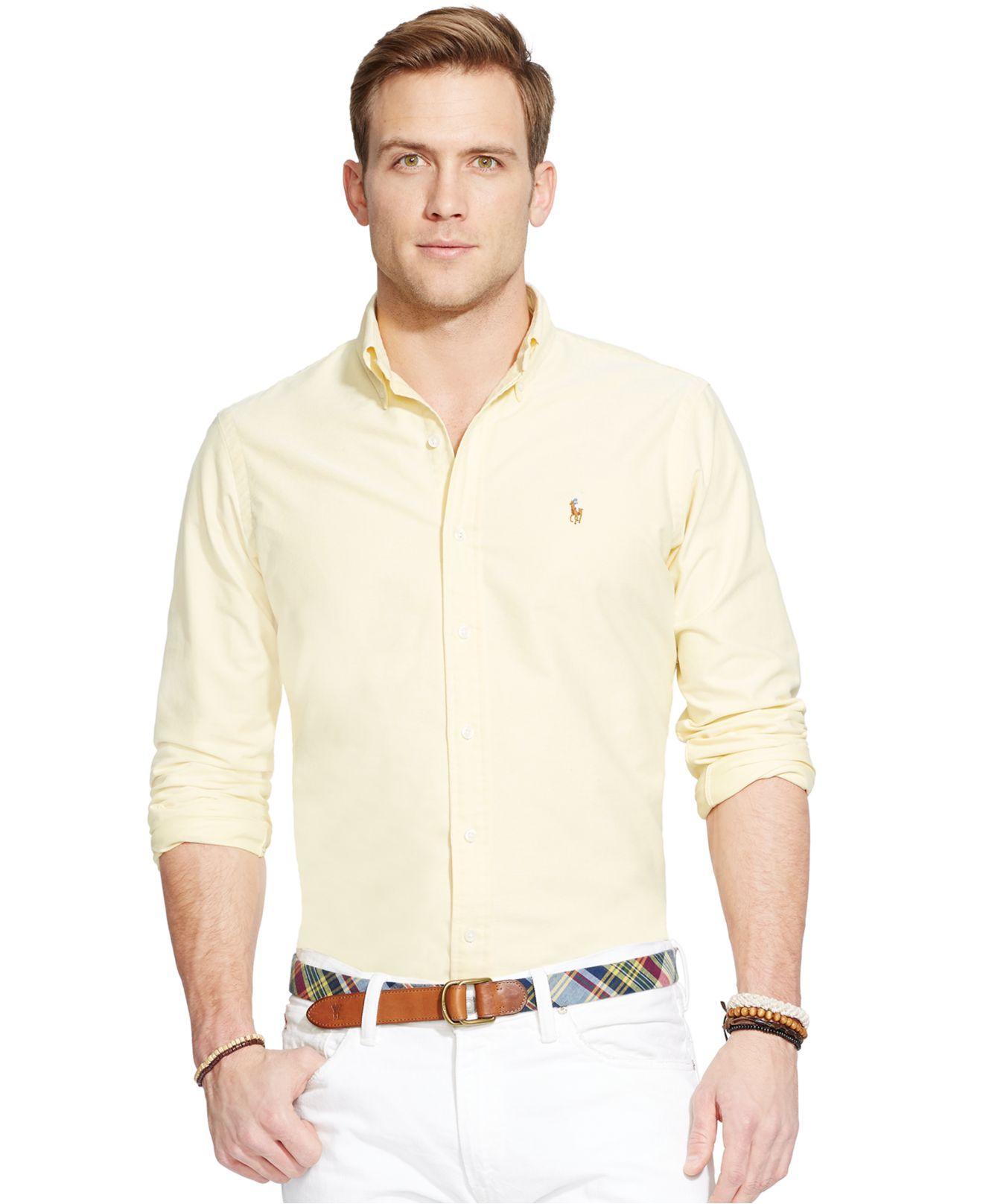 Polo Ralph Lauren Men 39 S Long Sleeve Solid Oxford Shirt In