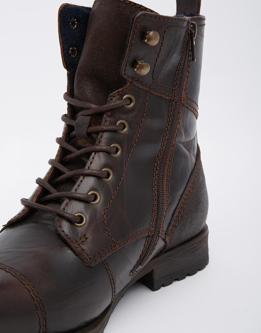 Aldo Graegleah Leather Derby Boots In Brown For Men Lyst