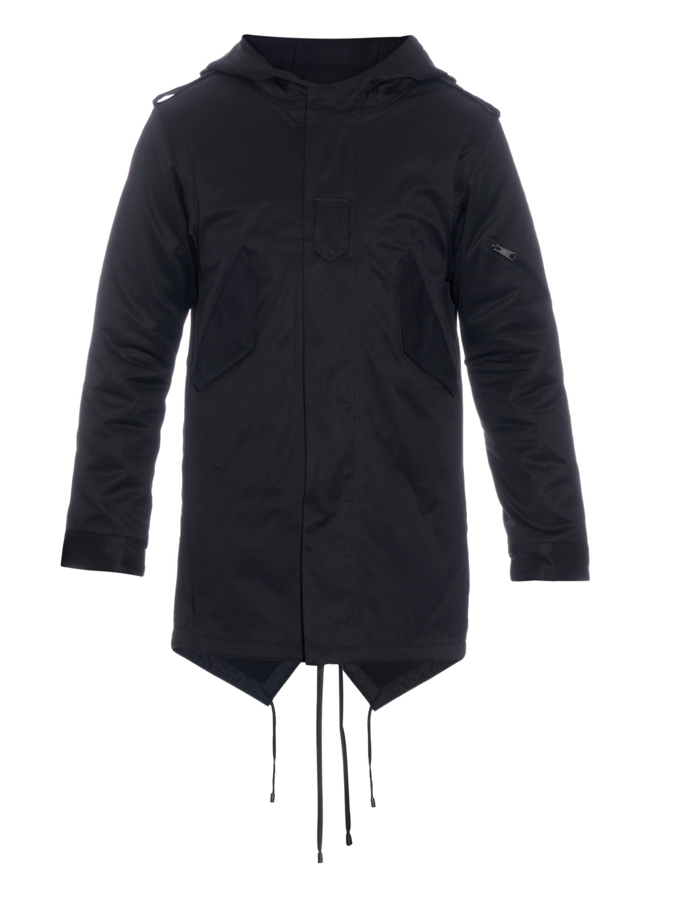 Public school Cotton-blend Canvas Parka in Black for Men | Lyst
