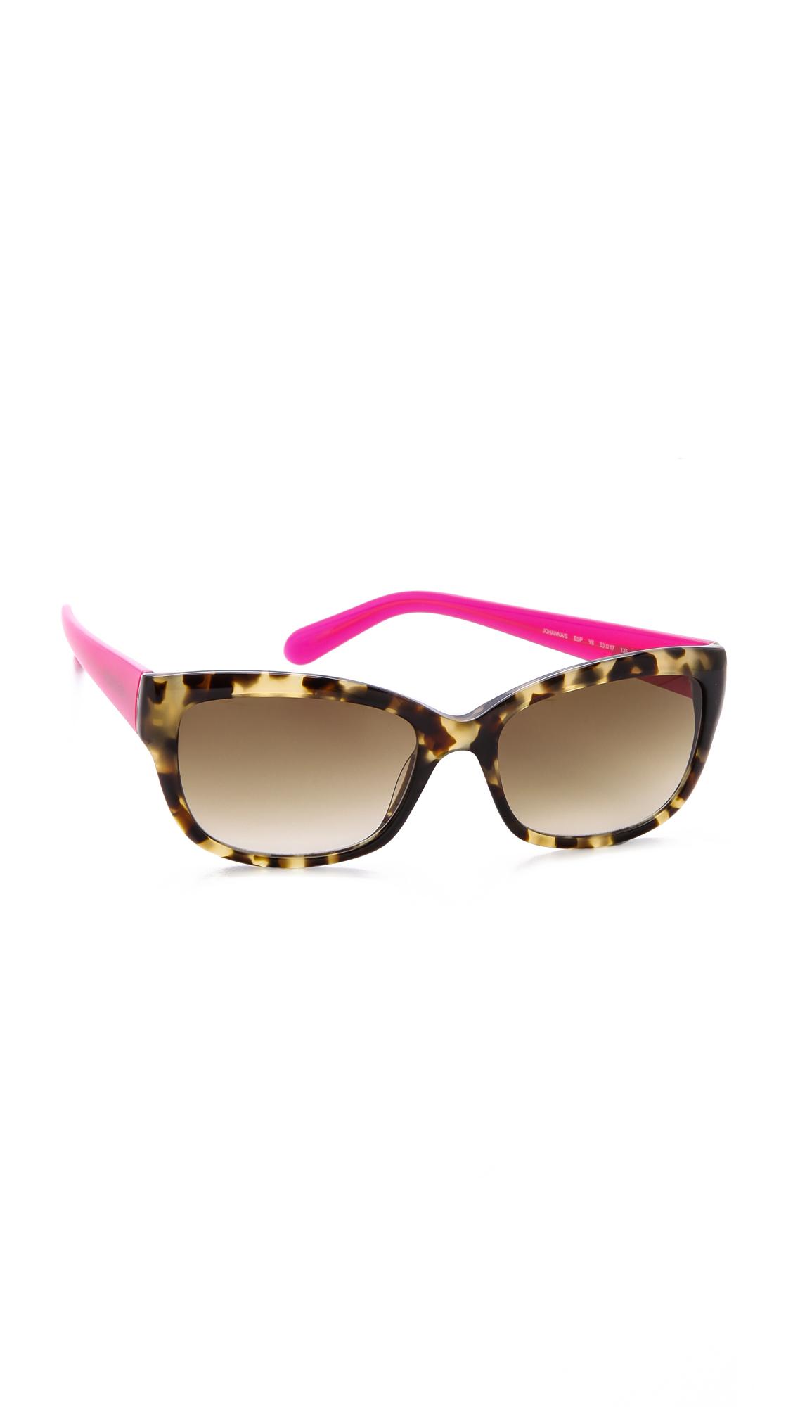 7384923f877 Lyst - Kate Spade Johanna Sunglasses in Pink
