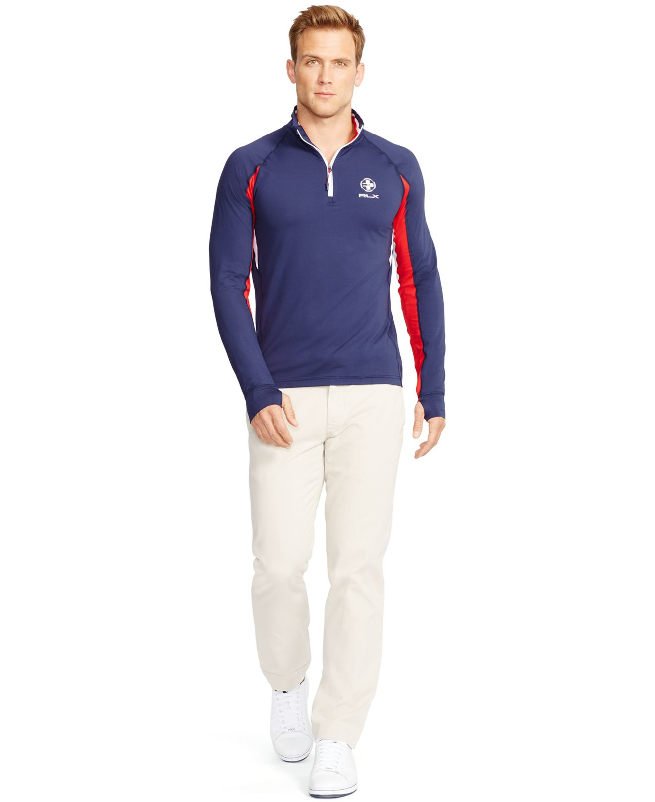 lyst polo ralph lauren rlx performance jersey pullover. Black Bedroom Furniture Sets. Home Design Ideas