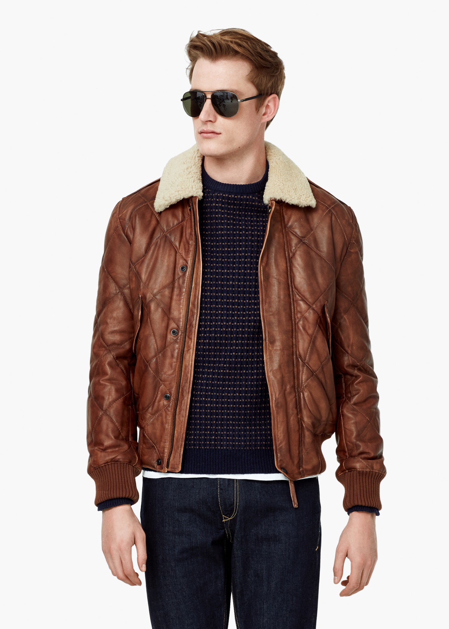 Leather jackets aviator