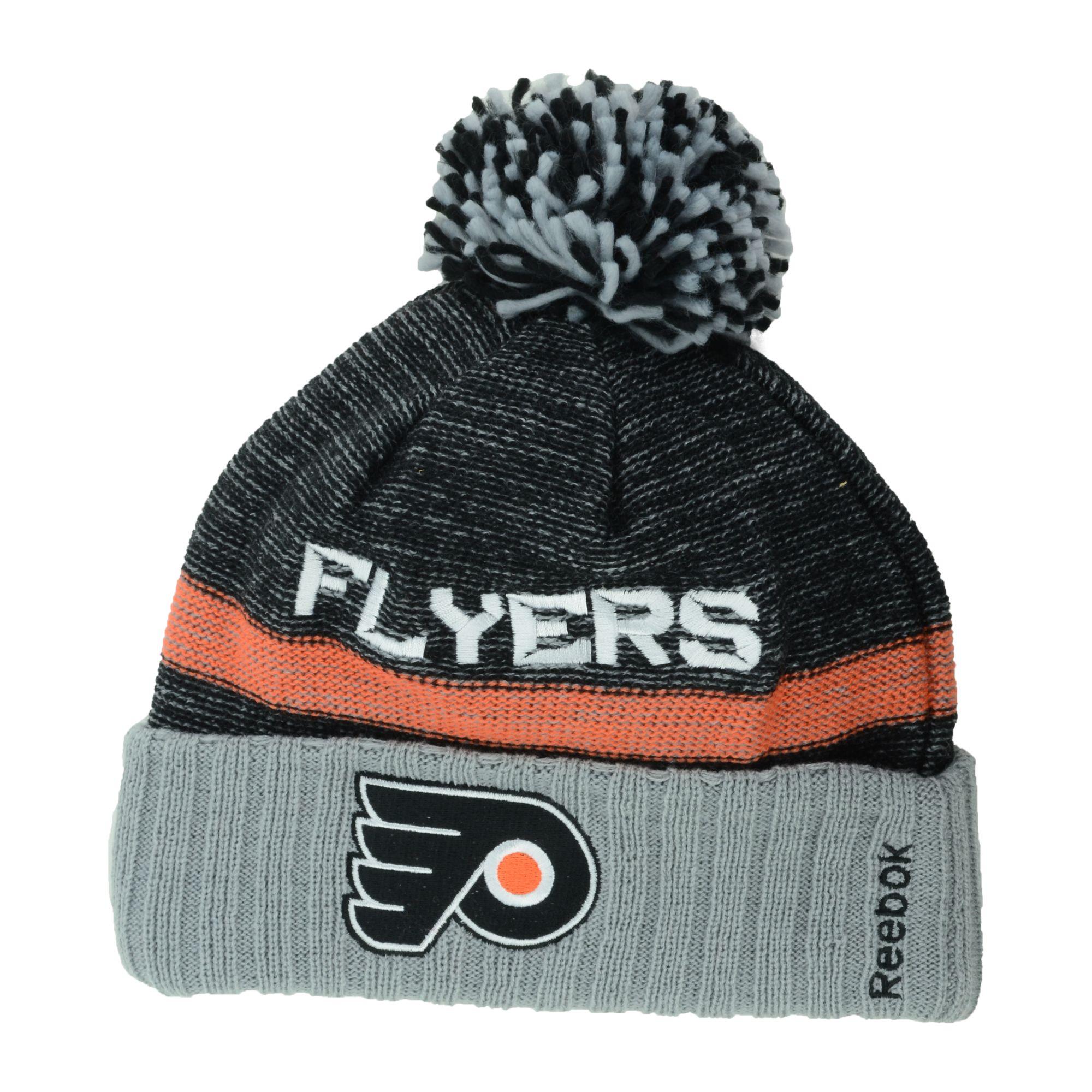 5cce7fa15 Reebok Philadelphia Flyers Pom Knit Hat in Black for Men - Lyst