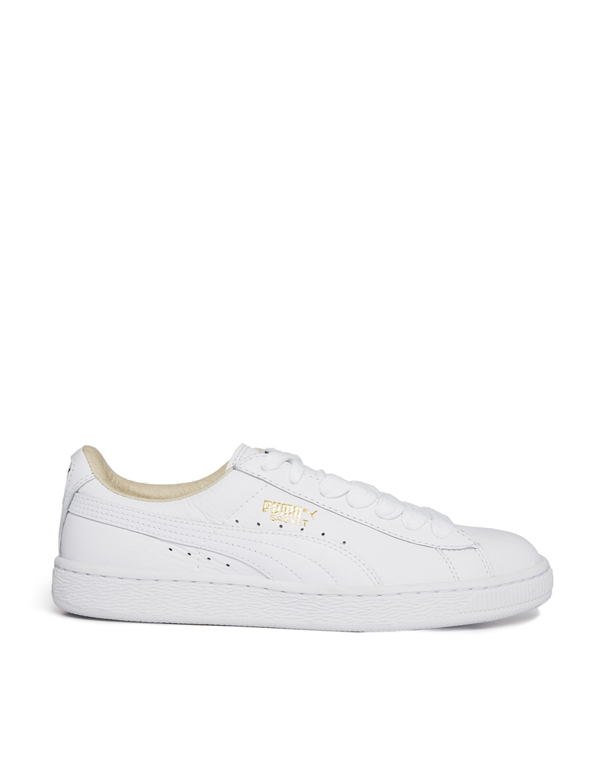 puma white basket classic lfs sneakers in white lyst. Black Bedroom Furniture Sets. Home Design Ideas