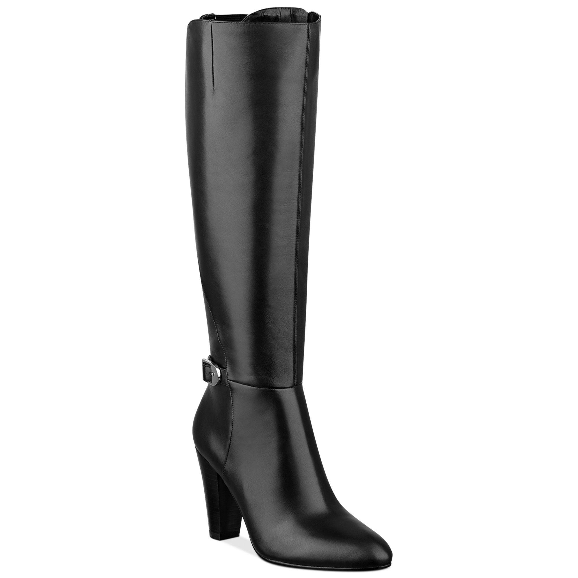 Marc Fisher Shayna Tall Dress Boots In Black | Lyst