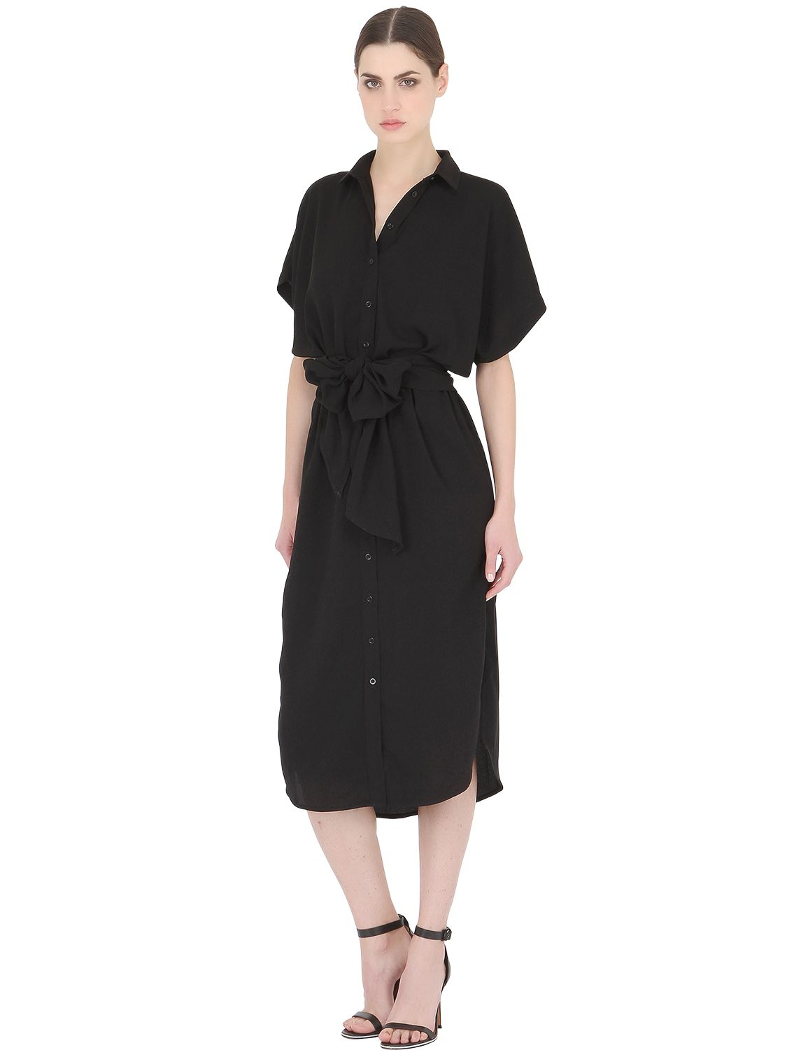 cameo no limit shirt dress with belt in black lyst