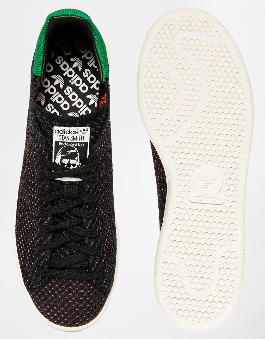 adidas originals stan smith trainers black
