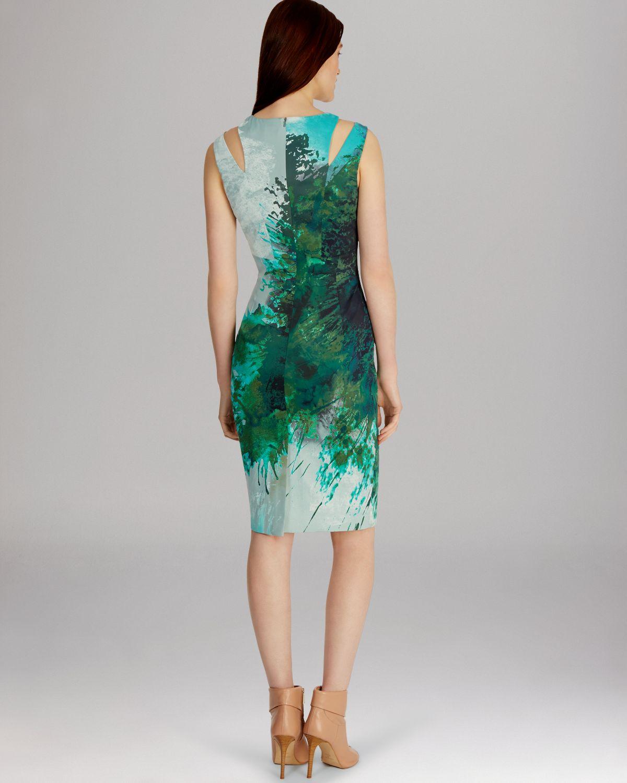 Lyst - Karen Millen Dress Beautiful Paint Splash Print in ...
