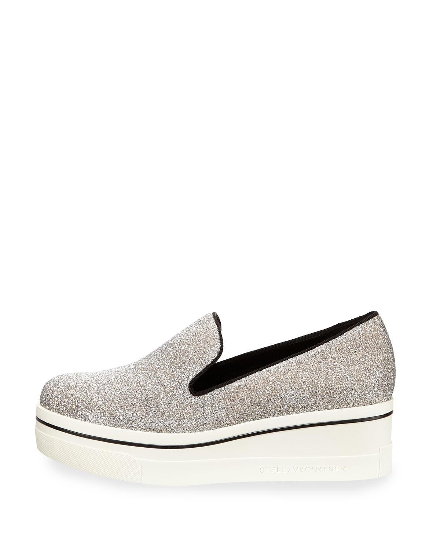Stella McCartney Silver 'Stella' Slip-On Sneakers