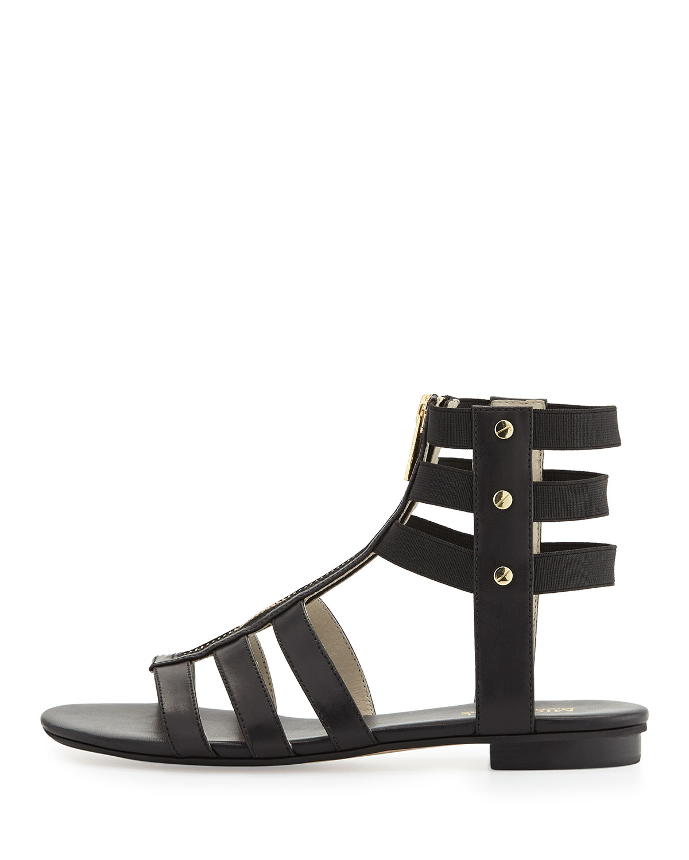cd13c92ea464 Lyst - MICHAEL Michael Kors Codie Leather Gladiator Sandals in Black