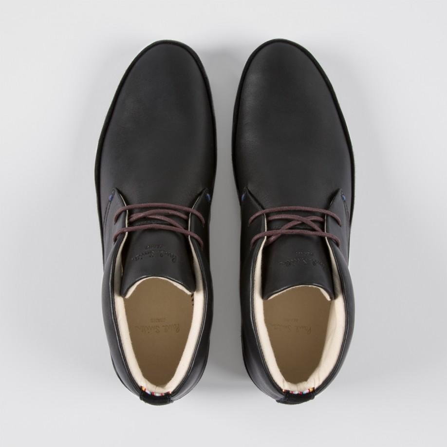 Paul smith Men'S Black Leather 'Loomis' Chukka Boots With Damson ...