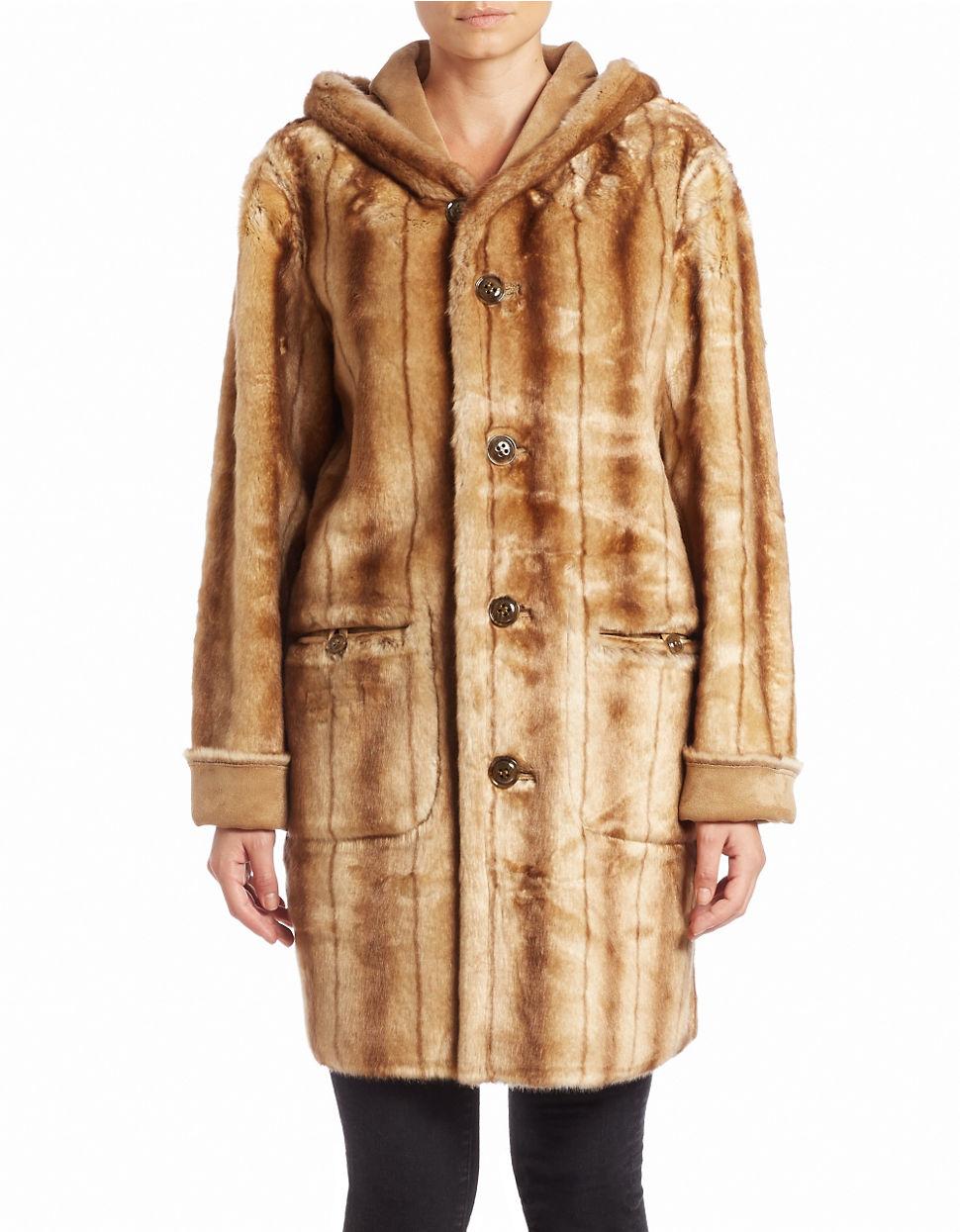Lyst Jones New York Reversible Faux Fur Coat