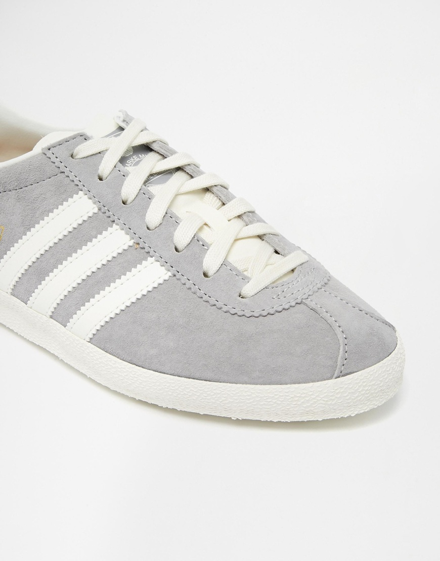 adidas originals gazelle grey trainers