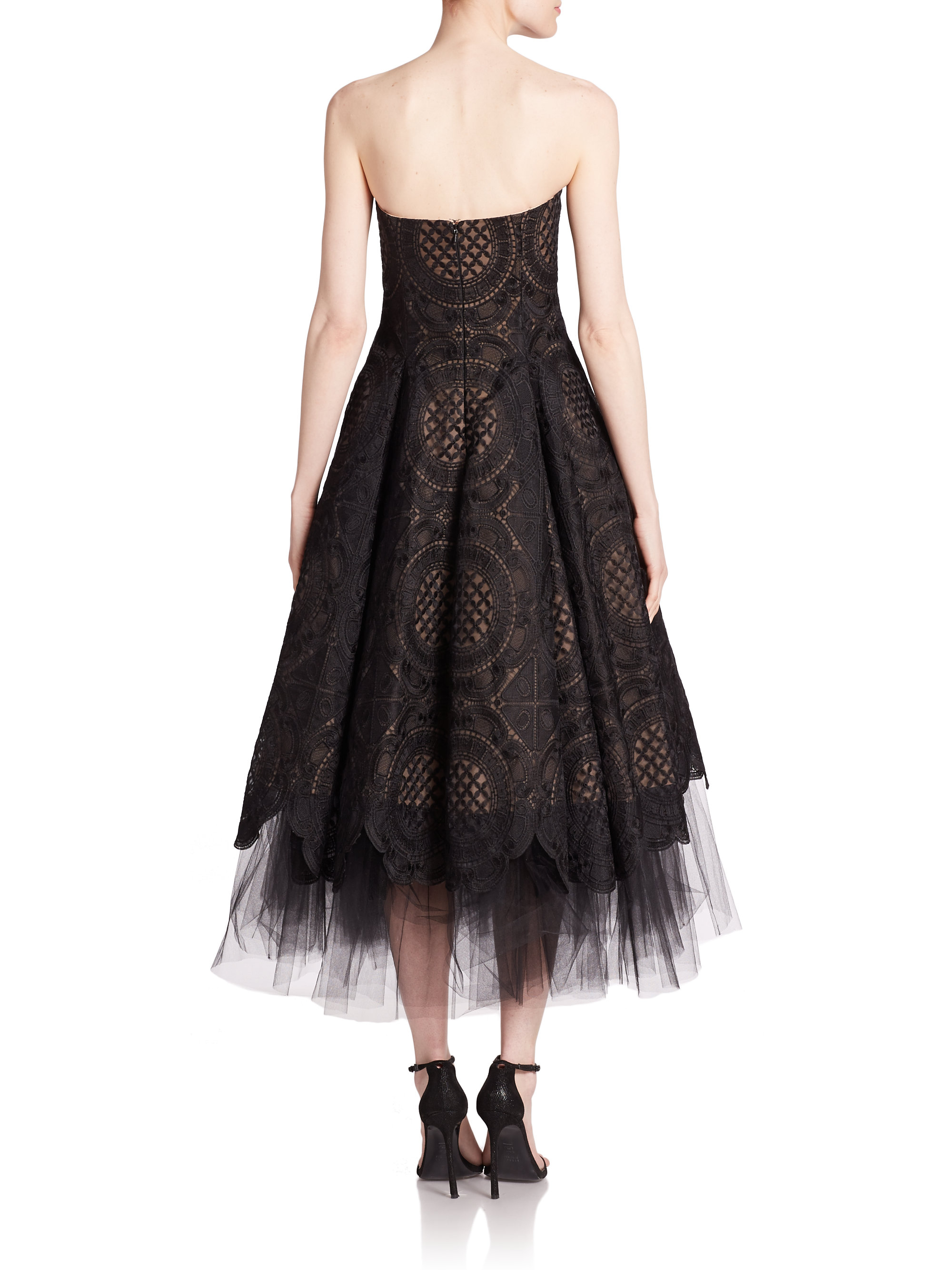 Notte By Marchesa Strapless Organza Lace Amp Tulle Dress In