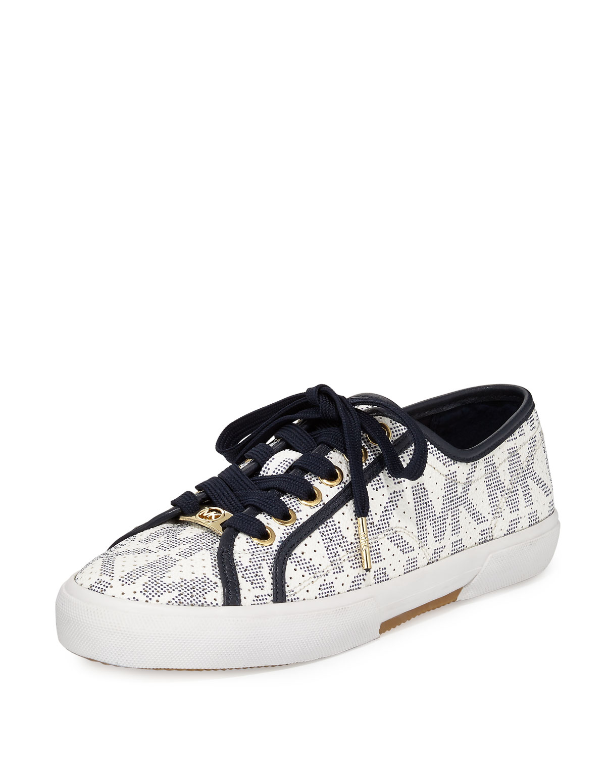 lyst michael michael kors boerum lace up low top sneaker. Black Bedroom Furniture Sets. Home Design Ideas