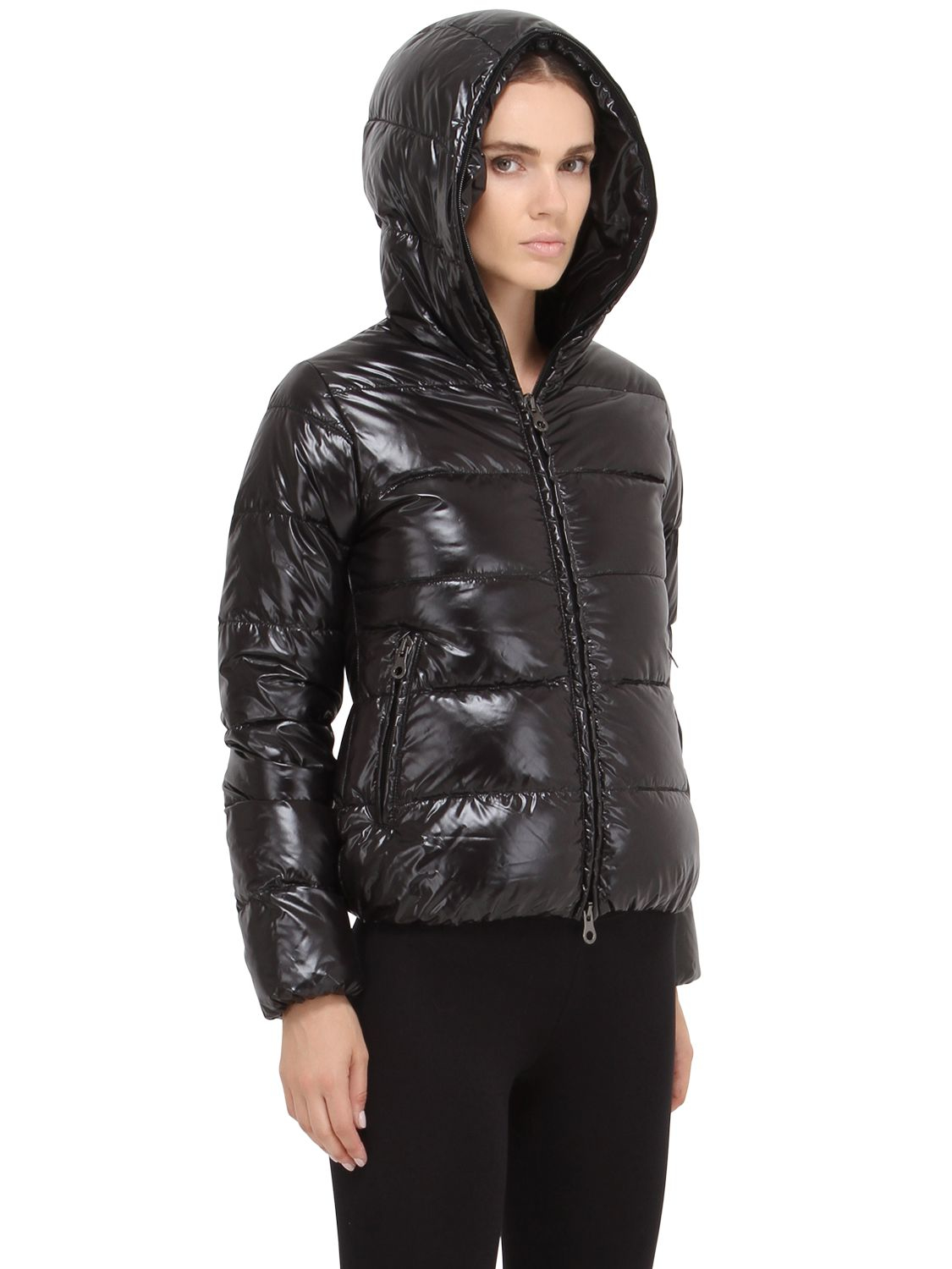 Duvetica Thiacinque Shiny Nylon Down Jacket In Black Lyst