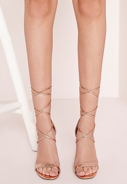 Gold Lace Up Heels Fs Heel
