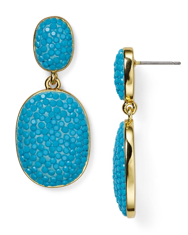 Lyst Kate Spade New York Pave The Way Drop Earrings In Metallic