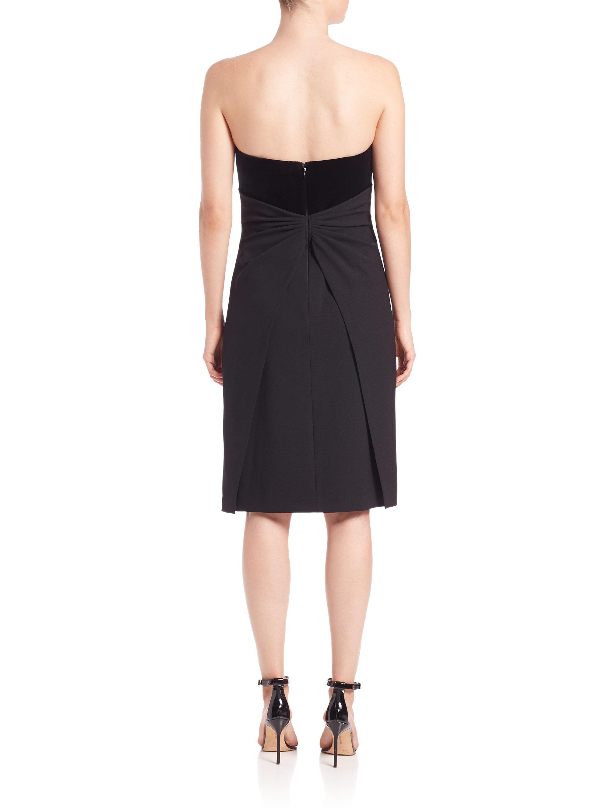 Black Strapless Bow Dress