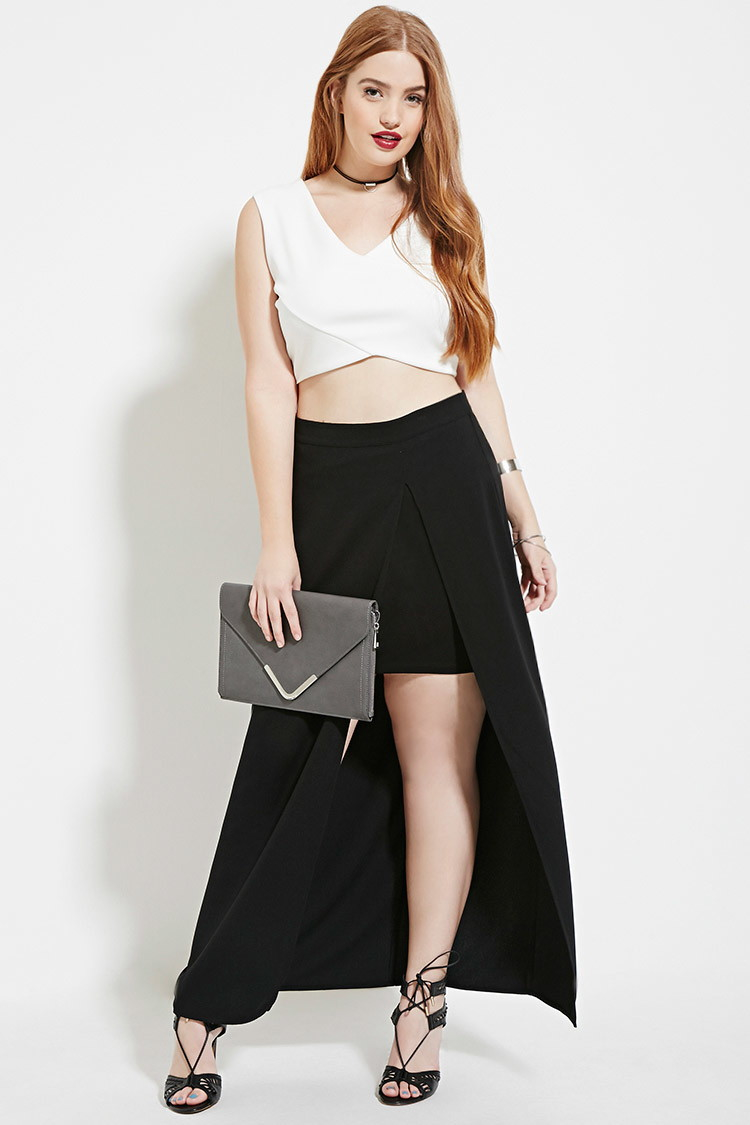 6a1c73c96b Plus Size Maxi Skirt And Crop Top