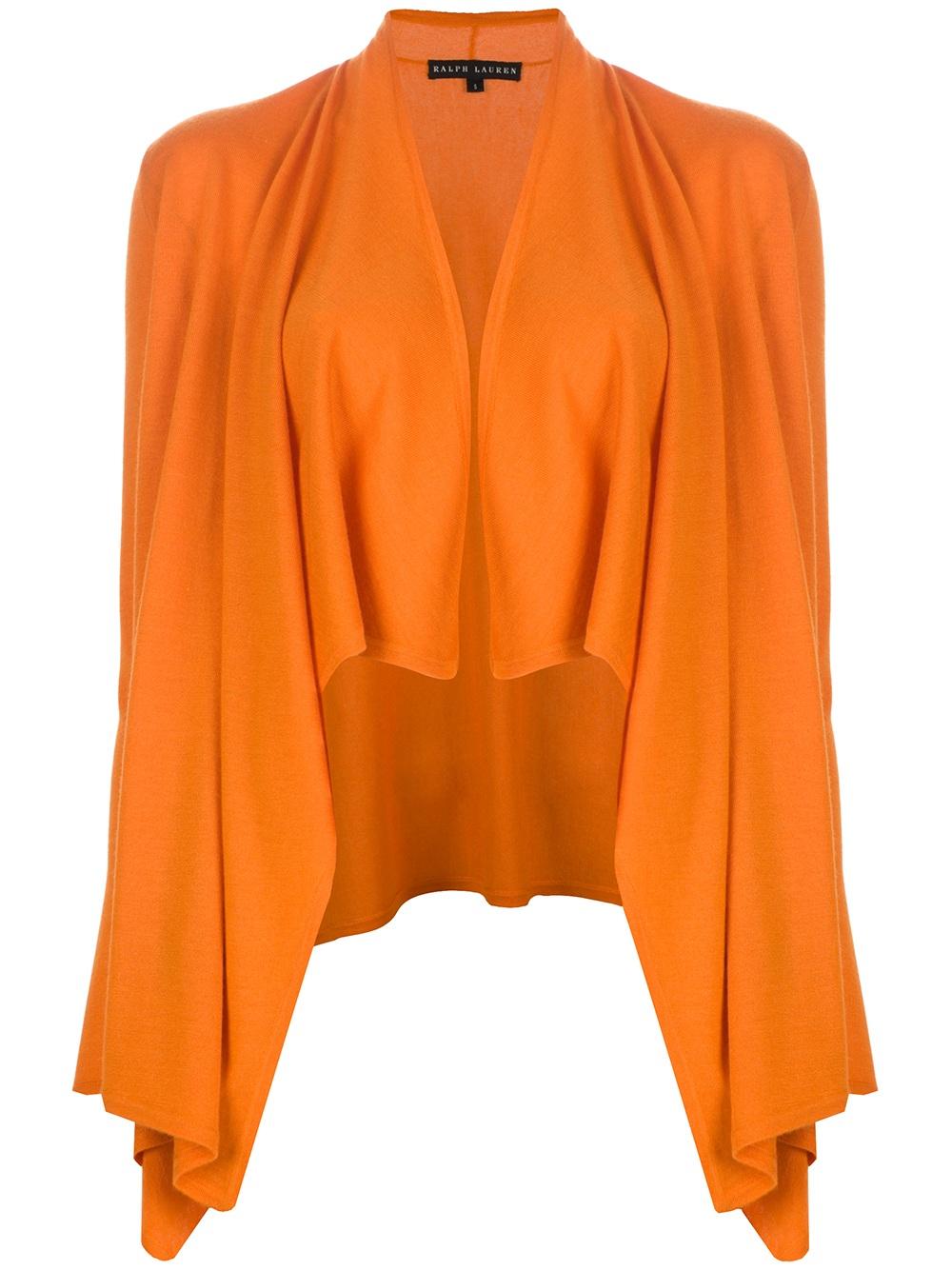 Ralph lauren black label Waterfall Cardigan in Orange | Lyst