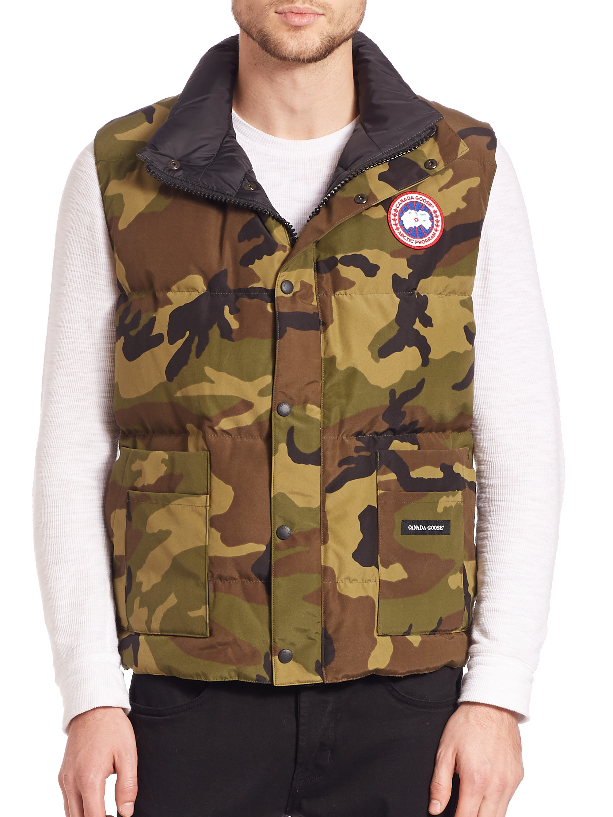 Canada Goose chateau parka online price - Canada goose Freestyle Puffer Vest in Green for Men (camo) | Lyst