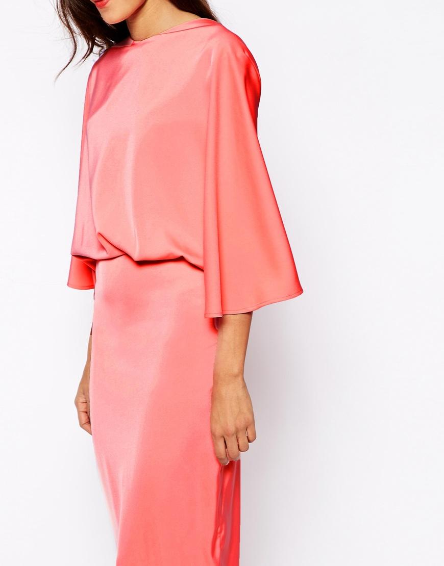 9b0c543819 Lyst - AQ AQ Sieber Kimono Sleeve Maxi Dress in Pink