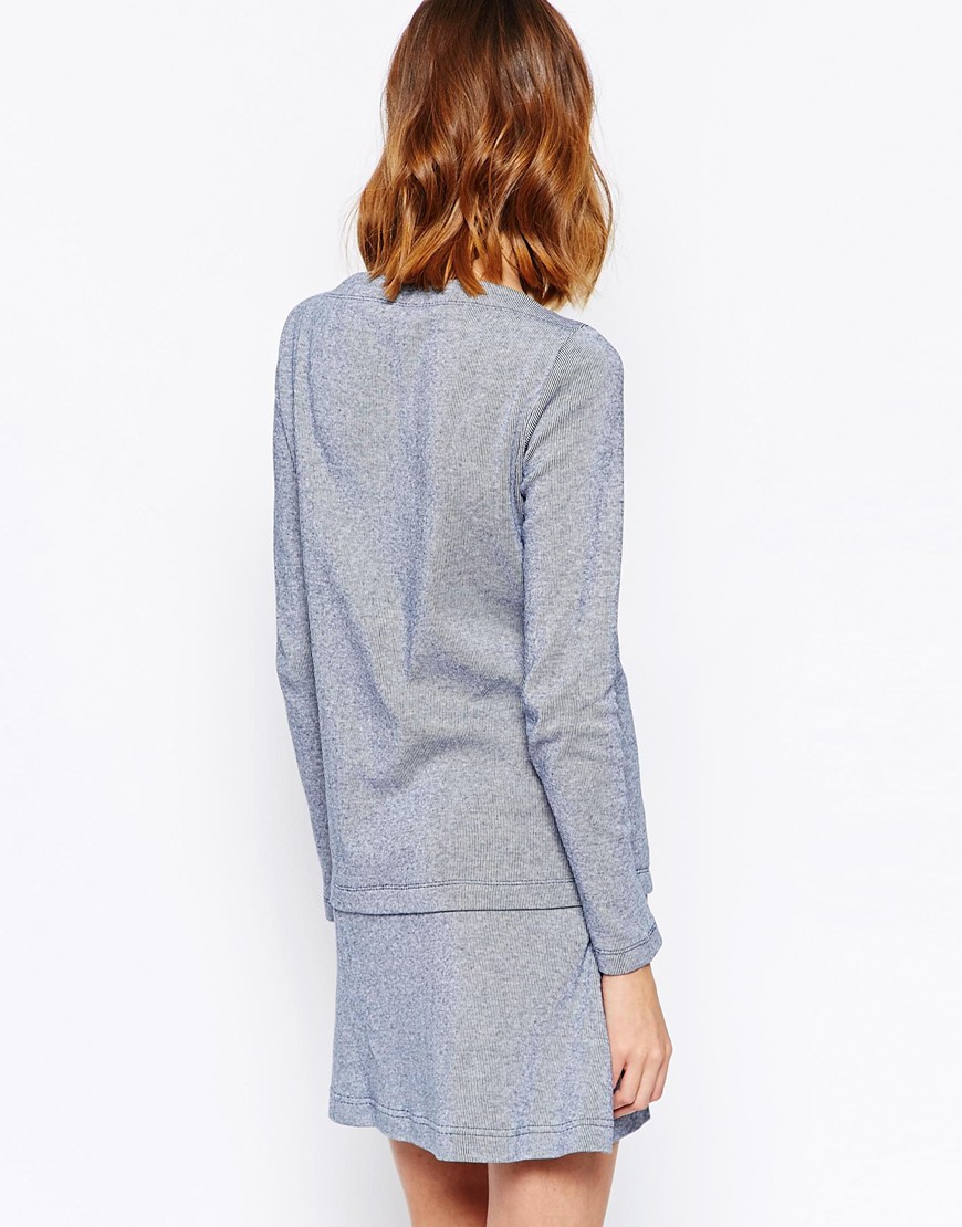 6a05d5ccb09 See By Chloé Dress With Anchor Motif in Blue - Lyst